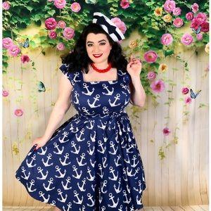 Nautical Sailor Pinup Girl Rockabilly Dress 20